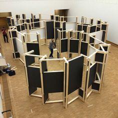 Move On !, design d'exposition pour KAdE Amersfoort par Koehorst dans 't Veld En collaboration avec David Derksen & The Incredible MachinePhotography (photo être) Mike Bink
