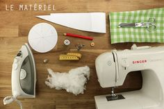 Tuto : réaliser un joli pouf en tissu 1