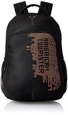 Buy #10: American Tourister 27 Ltrs  Black Casual Backpack (AMT STRATOS BP-03 BLACK/ORANGE)