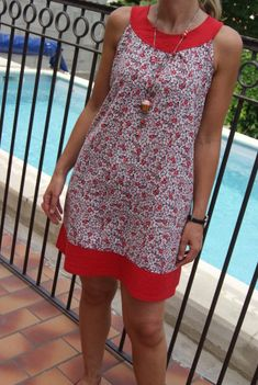 Little dress for the summer - Dress 03 Sewing Clothes, Diy Clothes, Clothes For Women, Dress Sewing Patterns, Clothing Patterns, Little Dresses, Cute Dresses, Couture Sewing, Summer Dress Outfits