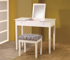 New Vanity Makeup Dressing Table Make Up Desk with Flip Mirror Drawers ...