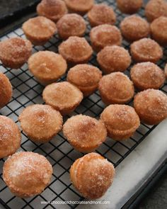 Mini Cinnamon Sugar Donut Muffins