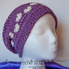 All Mine Crochet Slouch Hat - free pattern on mooglyblog.com
