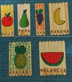 Nosso Espaço da Educação: Alfabetização - quebra-cabeça das frutas feito com...