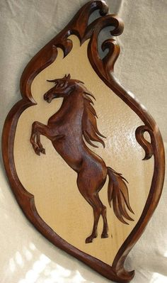 Wooden Horse Wood carving Horse Carving wall Horse by Wood Carving Patterns, Wood Carving Art, Art Sculpture En Bois, Wooden Horse, Intarsia Woodworking, Wood Wall Art, Painting On Wood, Wood Crafts, Wood Projects