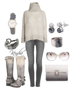 """Shades of Gray"" by k1974johnson1117 ❤ liked on Polyvore featuring J Brand, Frye, Lipsy, Jimmy Choo, American Vintage, Aqua, Croft & Barrow, Saachi and Nixon"