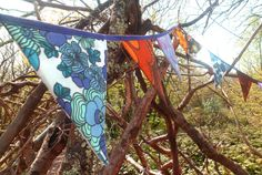 Funky retro boho handmade double sided by FunkyFlagsBunting