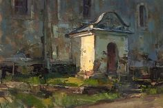"""Painting by Tibor Nagy - """"Country Church"""""""