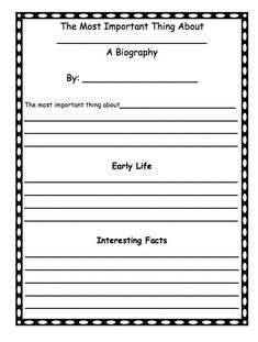 biography essay writing