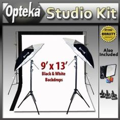 awesome     Portrait Studio Starter's Kit by Opteka Package Includes: Opteka BDS100 Heavy-Duty Professional Photography Backdrop Supporting System, Opteka 9' X 13' Black and White Muslin Professional Backgrounds (100% Cotton), 2 x 45-inch Lighting Umbrella Kits and More (Electronics) http://www.amazon.com/dp/B004UQVD9C/?tag=whit09b-20 B004UQVD9C