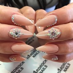 In search for some nail designs and ideas for your nails? Listed here is our list of 19 must-try coffin acrylic nails for trendy women. Sexy Nails, Prom Nails, Fancy Nails, Bling Nails, Cute Nails, Pretty Nails, Cuffin Nails, Toenails, Wedding Nails