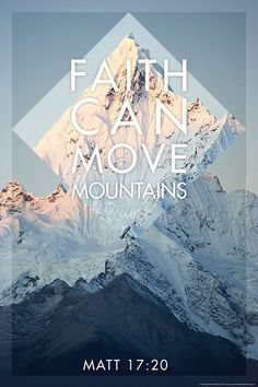 High qualitygloss coating to maximize longevity 24″ x 36″ large formatted sizing Christian poster: Faith can move mountains This christian posteris based on the famous bible verse from Matthew 17:20, where Jesus Christ encourages us that...