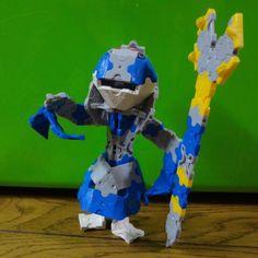 『仮面ライダーアギト』に登場するアンノウン(怪人)水のエルを、LaQで作ってみました。 エルロード 平成ライダー ラキュー kamenrideragito agitΩ elofwater