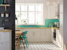 73 Best Kitchen Cabinets for Small Kitchen - Home Decorations Trend 2019 Small Kitchen Cabinets, Small Kitchen Layouts, Kitchen Dinning, Painting Kitchen Cabinets, New Kitchen, Kitchen White, Home Interior, Kitchen Interior, Kitchen Design