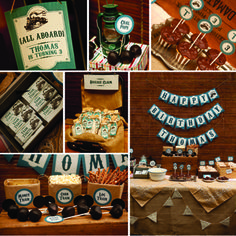 Vintage Train Party Birthday Party Ideas   Photo 1 of 42