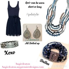 Levi necklace, XOXO and Dallas bracelets, all dolled up earrings Premier designs fall 2016