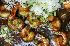 Peace out, P.F. Chang's—this shrimp is all we need. Get the recipe: Sticky Ginger Shrimp with Scallion Rice