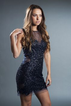 Basix Navy Shimmer Sequin Pannel Dress  Perfect for Dress for New Years Eve 2013  $440  http://eyecandycouture.com/product/basix-navy-shimmer-sequin-pannel-dress  #fashion #style #dress eyecandycouture.com