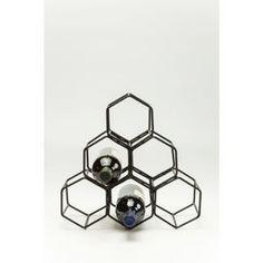 KARE Design :: Stojak na wino Black Hornet  mały