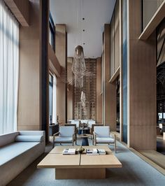 Photos and Videos 31 of 32 from project Jinan Bocuishan Sales Center Showroom Interior Design, Lobby Interior, Interior Architecture, Hotel Lobby Design, Hotel Lounge, Lobby Lounge, Sales Center, Lounge Design, Design Design
