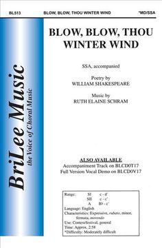 Blow, Blow, Thou Winter Wind (Octavo)