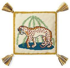 Tory Burch Leopard Needlepoint Pillow on shopstyle.com