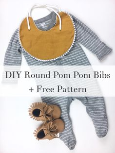Make your own round pom pom bib under $5! Yes, these bibs can go for $20 online so save yourself some change by doing it yourself!