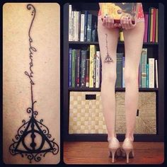Deathly Hallows tattoo: perfect design for my next tattoo tights project :D