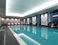 The Indoor Quartz Crystal Spa Pool at the Trump International Hotel  Tower in Toronto