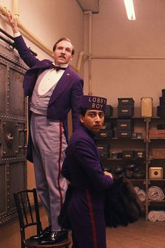 Ralph Fiennes and Tony Revolori in The Grand Budapest Hotel, directed by Wes Anderson Great Films, Good Movies, Love Movie, Movie Tv, Movie Scene, Grand Hotel Budapest, Tony Revolori, Beste Comics, Wes Anderson Movies