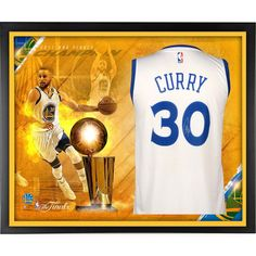 Stephen Curry Golden State Warriors Fanatics Authentic Framed Autographed 2017 NBA Finals Champions White Swingman Jersey Collage
