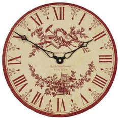 French Toile Clock
