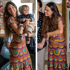 Ritinha vestido crochê. Brazilian Soap Opera costumes