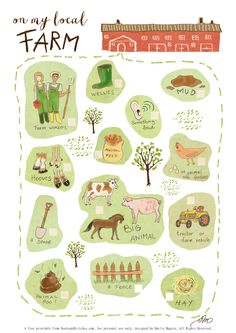Farm Bingo by Emilie Maguin | Seeds and Stitches blog