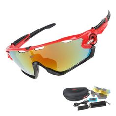 Oculos Professional Polarizado UV 400 3 Lens TR90 6 color