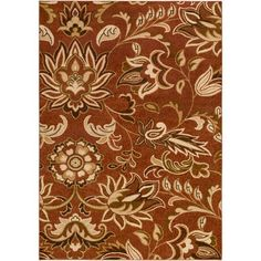 River Home Brown and Neutral Rectangular: 5 Ft. 2-Inch x 7 Ft. 6-Inch Rug - (In No Image Available)