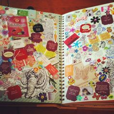 Smash book pages #smashbook #stickers