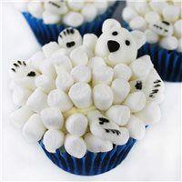 Party Ideas UK Polar Bear Marshmallow Cupcakes