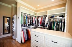 This is such a great idea...putting the washer/dryer in the closet