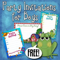 170 best free printable birthday party invitations images on free printable boys birthday party invitations filmwisefo