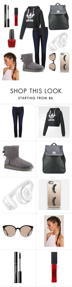 """Untitled #86"" by mooeystache on Polyvore featuring AG Adriano Goldschmied, adidas, UGG, adidas Originals, Beats by Dr. Dre, Casetify, Balenciaga, Maybelline and OPI"