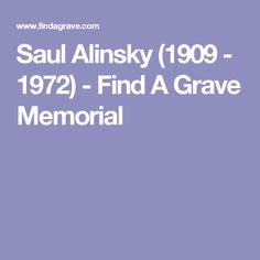 Saul Alinsky (1909 - 1972) - Find A Grave Memorial