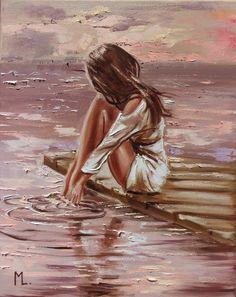 L'art Du Portrait, Paintings For Sale, Original Paintings, Oil Painting On Canvas, Woman Painting, Beautiful Paintings, Lovers Art, Female Art, Art Museum