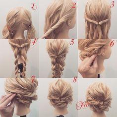 Prom hair – Tutorial Per Capelli Prom Hair Updo, Hair Dos, Up Hairstyles, Wedding Hairstyles, Prom Hair Tutorial, Updo Tutorial, Hair Arrange, Pinterest Hair, Bridesmaid Hair