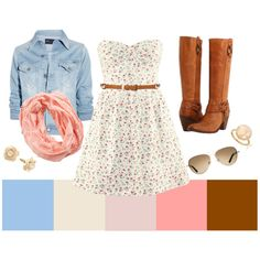 Summer night in the country, created by yolandep on Polyvore