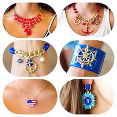 #nautical accessories #usa #merica from Ivy boutique! 228-354-8499! @ivyboutiquems on Instagram or Facebook.com