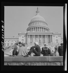 """March, 1943. """"Washington, D.C. The Capitol.""""Bubley, Esther, photographer.Farm Security Administration – Office of War Information Photograph Collection, Library of Congress."""
