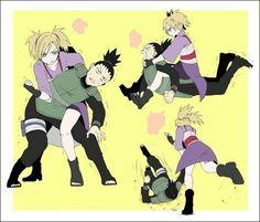 Shikamaru, Temari, couple, funny, fighting, cute; Naruto Naruto Kakashi, Anime Naruto, Naruto Fan Art, Naruto Comic, Naruto Cute, Naruto Funny, Naruto Shippuden Anime, Gaara, Otaku Anime
