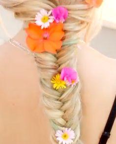 Perrie Edwards Flower Braid Hair Tutorial - Easy Girls Hairstyles