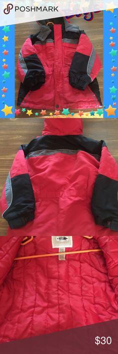Arizona Winter Coat EUC - no rips or stains. Smoke-free home. Insulated coat, comes with detachable hood. All zippers and snaps work perfectly. 4 front Velcro pockets. 100% polyester. Worn only a few times before outgrown. Arizona Jean Company Jackets & Coats Puffers